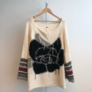 Free People Oversized Last Rose Sweater XS/S